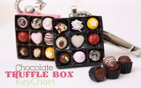 box keychain chocolate truffle box keychain how to make polymer clay candy