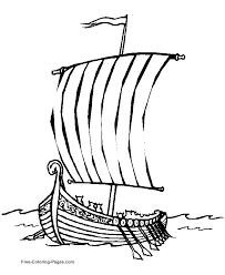 viking ship coloring funycoloring