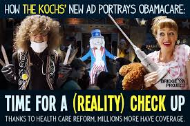 Anti Obamacare Meme - step right up to the kochs latest creepy effort to reach