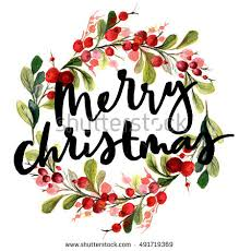 christmas cards in watercolor christmas card watercolor painting lettering stock