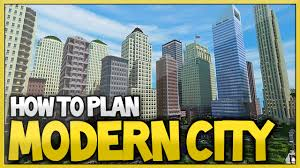 Modern City Minecraft Best Way To Plan A Modern City 2016 Xboxone Xbox360
