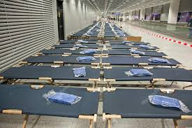Temporary Beds Frankfurt Airport With Temporary Beds U2013 Stock Editorial Photo