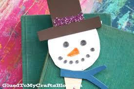 craft foam snowman bookmark kid craft glued to my crafts