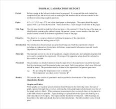 formal lab report template 14 laboratory report templates free sle exle format