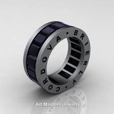 mens infinity wedding band cordova brierly mens modern 14k grey gold black diamond channel
