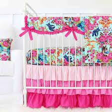 Pink And Aqua Crib Bedding Marina S Mermaid Aqua Pink Crib Bedding Caden