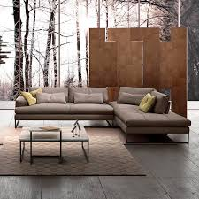 Gamma Leather Sofa by Modular Sofa Contemporary Leather 2 Seater Sunset Gamma