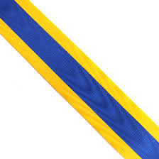 blue and gold ribbon blue and gold ribbon per metre rotary supplies