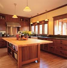 wooden arts and crafts vintage wooden and craft kitchen interior design with dim cone