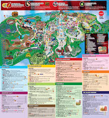 6 Flags Map Great Adventure History 2015 Theme Park Map