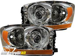 Dodge Challenger Xenon Headlights - 2006 2009 dodge ram 1500 2500 factory look hid retrofit bi xenon