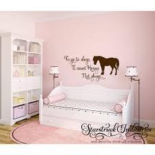 go sleep i count horses not sheep horse theme wall
