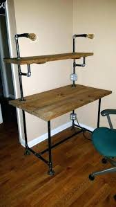 pipe desk with shelves galvanized pipe kitchen table sweet galvanized pipe desk legs for