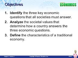 chapter 2 economic systems section 1 slide 2 copyright pearson