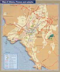 Map Greece by Athens Map