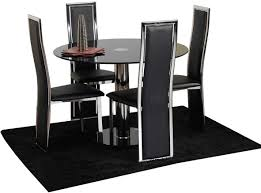 Modern Black Glass Dining Table Dining Room Foxy Small Dining Room Decoration Using Furry Light
