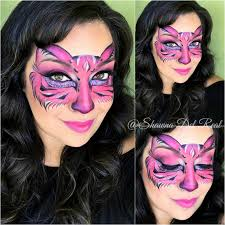 shawna d make up pink kitty face painting mask fotd