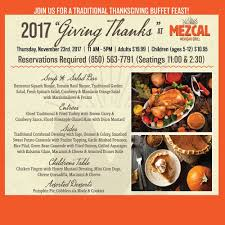 join us for a traditional thanksgiving buffet feast at mezcal