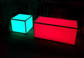 Coffee Tables With Led Lights Light Up Rgb Led Coffee Table Set