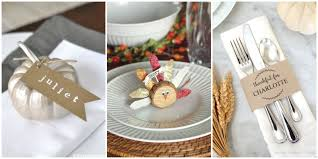 Table Place Cards by 9 Diy Thanksgiving Place Cards Craft Ideas For Fall Table Name Cards