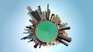 transform panorama into miniature 360 photography psdesire