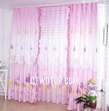 Cheap Girls Curtains Princess Romantic Kids Cheap Organic Cute Window Curtains