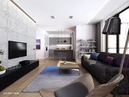 contemporary apartment living room decor with modern living room
