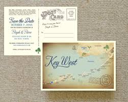 Postcard Save The Dates Vintage Map Postcard Save The Date Key West Fl Wedding Save