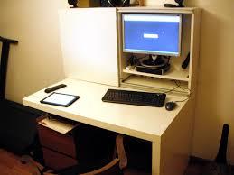 Computer Desk Hack Besta Expedit Computer Desk Ikea Hackers Ikea Hackers