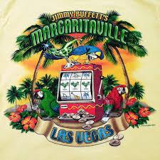 jimmy buffett margaritaville las vegas t shirt small yellow