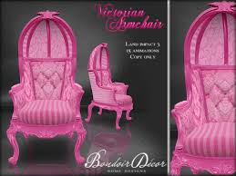 Pink Armchair Second Life Marketplace Boudoir Victorian Armchair Pink Damask