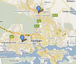 map of abidjan abidjan map
