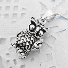 owl necklace pendants images Movable 925 silver owl pendant small callvogue jpg