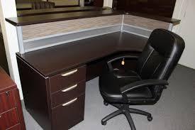 Laminate Reception Desk Office Source New Pl Series Espresso Laminate Reception Desk