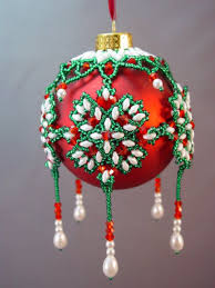 386 best beaded ornaments images on beaded