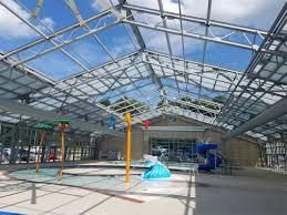 unique indoor outdoor pool design for batesville community center