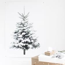 snowy tree print perfect little winter christmas tree poster