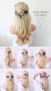 hair tutorial hair tutorial very easy summer braided bun knot grace braver