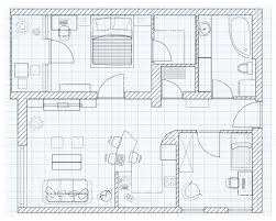 Sketch Floor Plan Black And White Floor Plan Sketch Of A House On Millimeter Paper