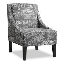 carter accent chair gray value city furniture