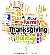 thanksgiving day turkey word cloud infographic stock vector