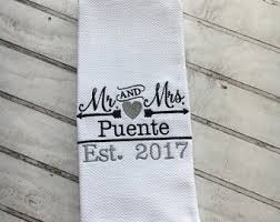 wedding gift towels personalized dish towels etsy