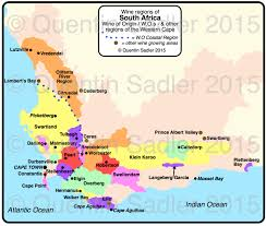 Map South Africa South Africa Quentin Sadler U0027s Wine Page