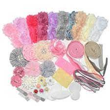 hair bow maker 64 pcs headbands and diy headand kit baby shower