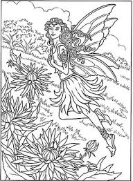 detailed coloring pages adults detailed fairy