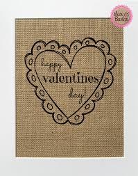 happy valentines day custom burlap sign 5x7 8x10 rustic