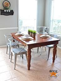 farmhouse table with metal chairs metal kitchen table chairs gondolasurvey