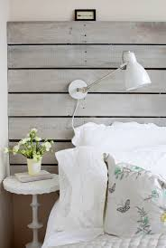 White Wood Headboard Wood Plank Headboard Cottage Bedroom The Cross Decor Design