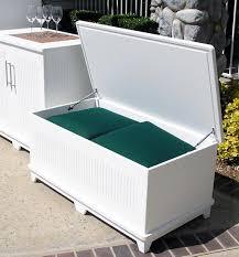 Cushioned Storage Bench Patio Cushion Storage Bench Icamblog