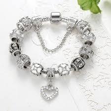 charm bracelet for fashion 925 antique silver charm bracelet